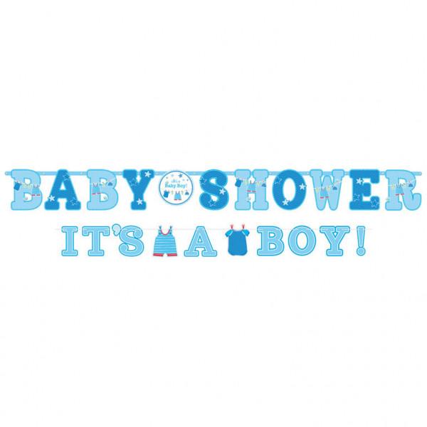 """Girlanda na przywitanie chłopca """"Baby Shower It`s a boy"""""""