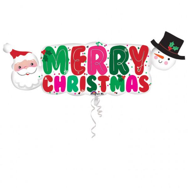 "Balon foliowy ""Merry Christmas"" / 104x40 cm"
