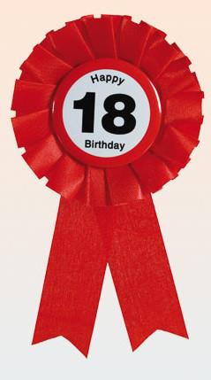 """Kotylion na 18 urodziny """"Happy 18 Birthday"""""""
