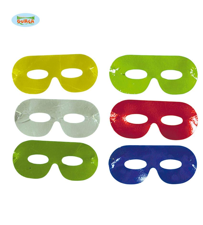 Maski karnawałowe metalizowane, mix kolorów