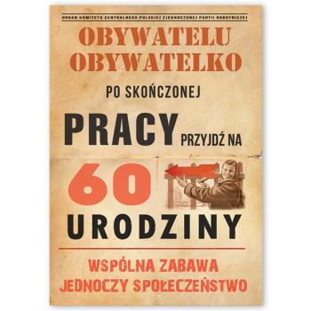 Zaproszenia na 60 urodziny w stylu PRL / ZX6814