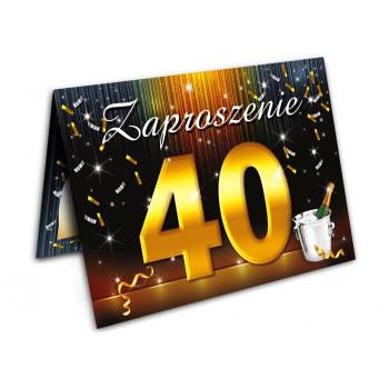 Zaproszenia na 40 urodziny szampan / ZX6800