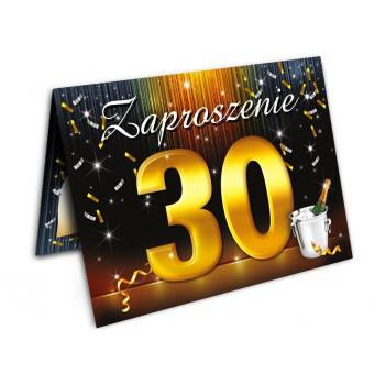 Zaproszenia na 30 urodziny szampan / ZX6802