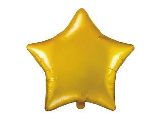 """Balon foliowy """"Gwiazda"""", złoty Metallic / 48 cm"""