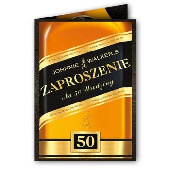 Zaproszenia  na 50 urodziny whiskey / ZX6805