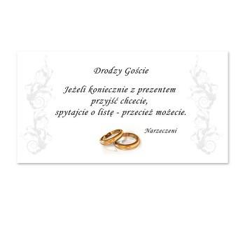 Bilecik do zaproszeń weselnych / PDG14