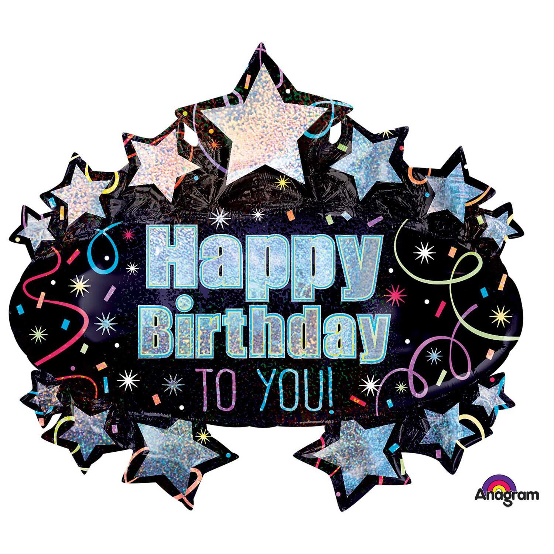 """Balon foliowy """"Happy Birthday to You"""" / 71x78 cm"""