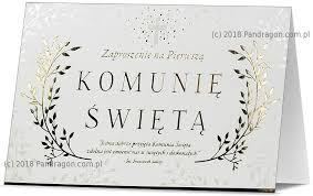 Zaproszenia Komunijne na I Komunię Świętą / Z.STAR-34