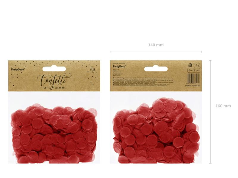 """Konfetti """"Kółka"""", czerwone / 1,6 cm"""