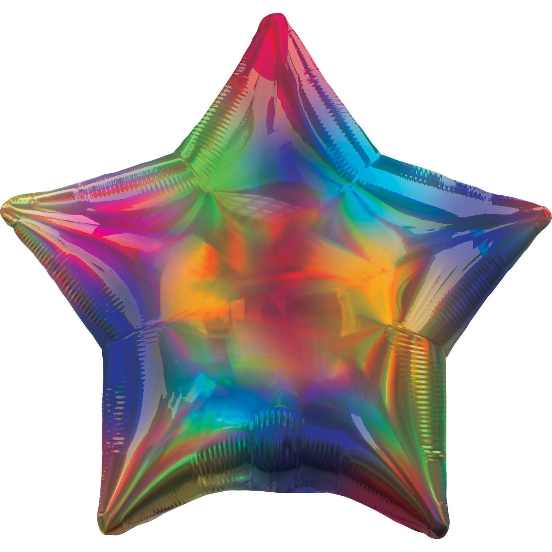 """Balon foliowy opalizujący """"Gwiazda"""", tęczowy (niezapakowany)"""