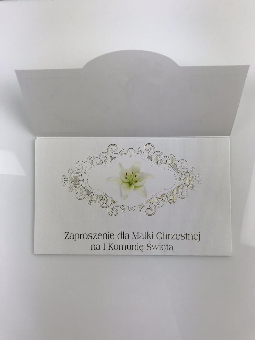 Zaproszenia Komunijne dla Matki Chrzestnej I Komunia Święta / ZS_KOM_26569