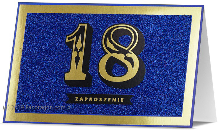Zaproszenia na 18 urodziny / Z.STAR-23