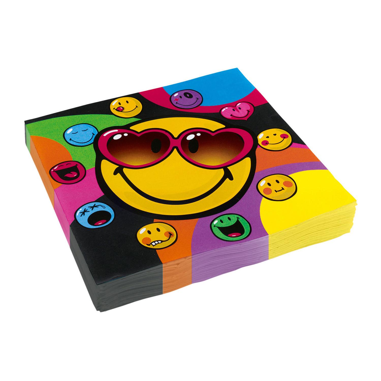 """Talerzyki papierowe """"Emotki Smiley"""" / 23 cm"""