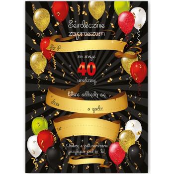 Zaproszenia na 40 urodziny / ZX6808