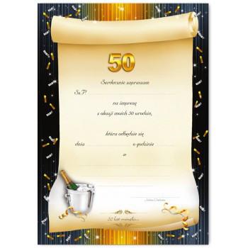 Zaproszenia na 50 urodziny / ZX6801