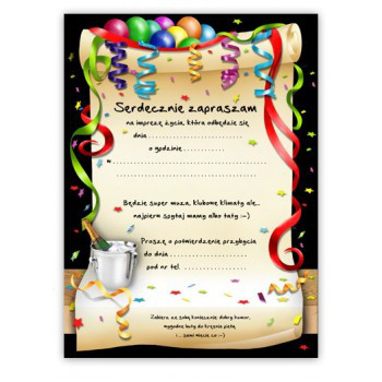 Zaproszenia na 18 urodziny / ZX8300
