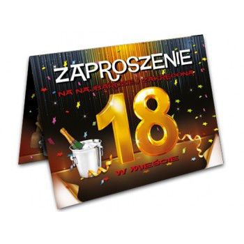 Zaproszenia na 18 urodziny / ZX8600