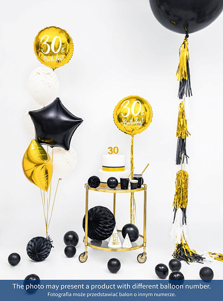 """Balon foliowy 18"""" """"50th Birthday"""" na 50 urodziny / FB24M-50-019"""