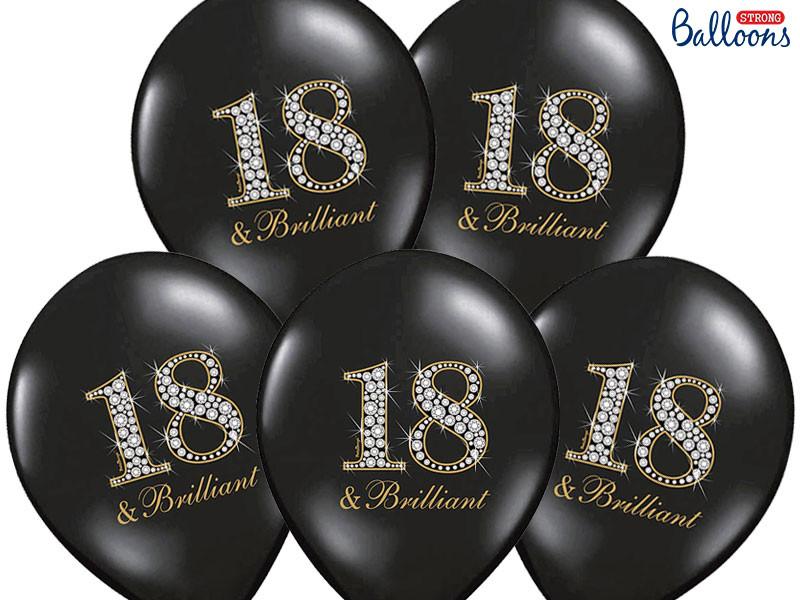 """Balony na 18 urodziny """"18 & Brilliant"""" / SB14P-136-010/6"""