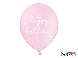 """Balony urodzinowe z napisem """"Happy Birthday"""" / SB14P-244-081J-6"""
