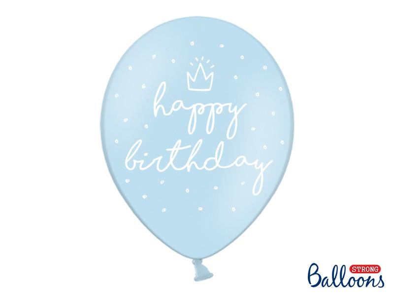 """Balony urodzinowe z napisem """"Happy Birthday"""" / SB14P-244-011-6"""
