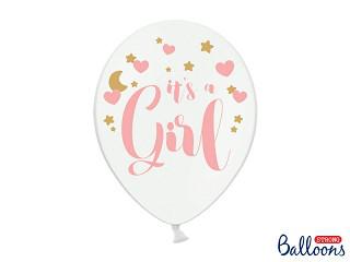 """Balony na Narodziny dziecka lateksowe """"It`s a Girl"""" / SB14P-233-008/6"""