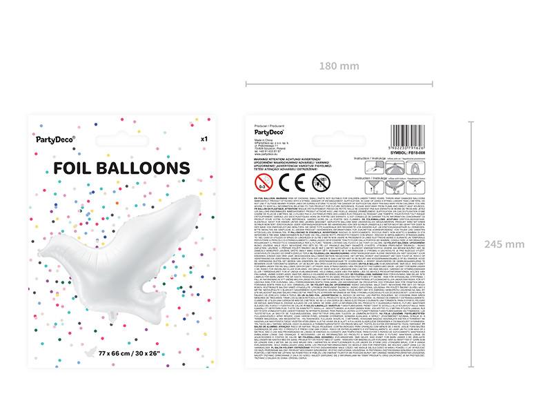 """Balon foliowy """"Gołąb"""" / 77x66 cm"""