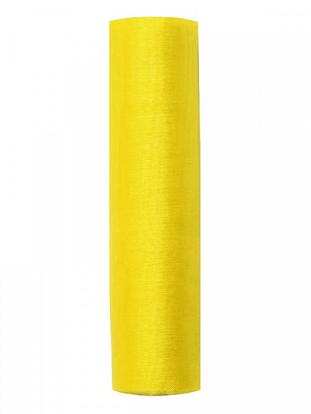 Organza gładka, żólta / 0,16x9 m