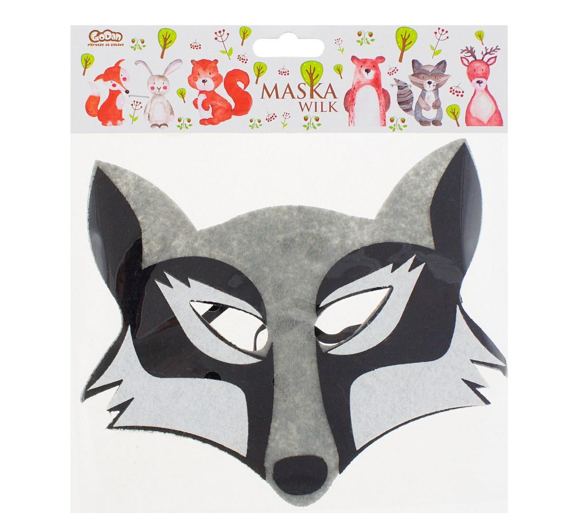 Maska Wilk / 19,5x17 cm