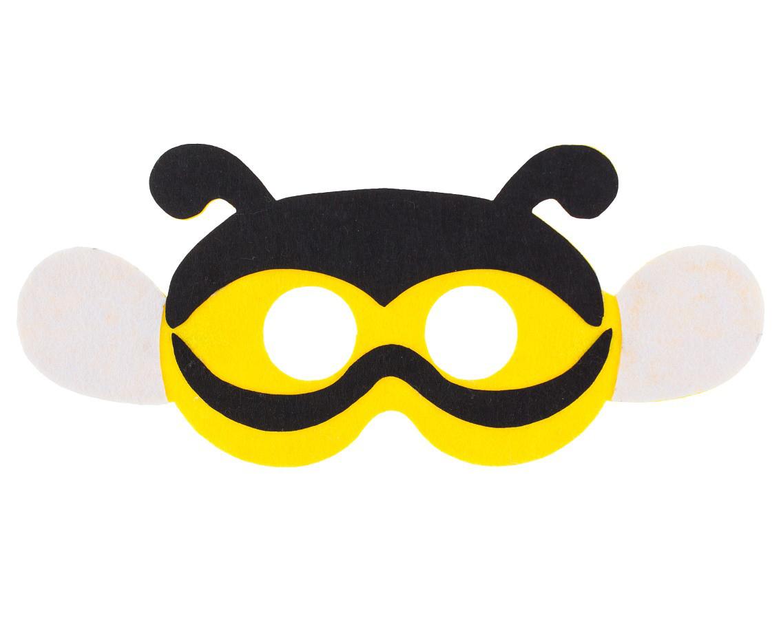 """Maska filcowa """"Pszczółka"""" / 25x11 cm"""