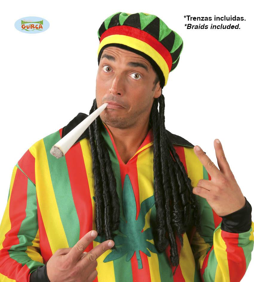 Czapka Jamajska z dredami / 13986