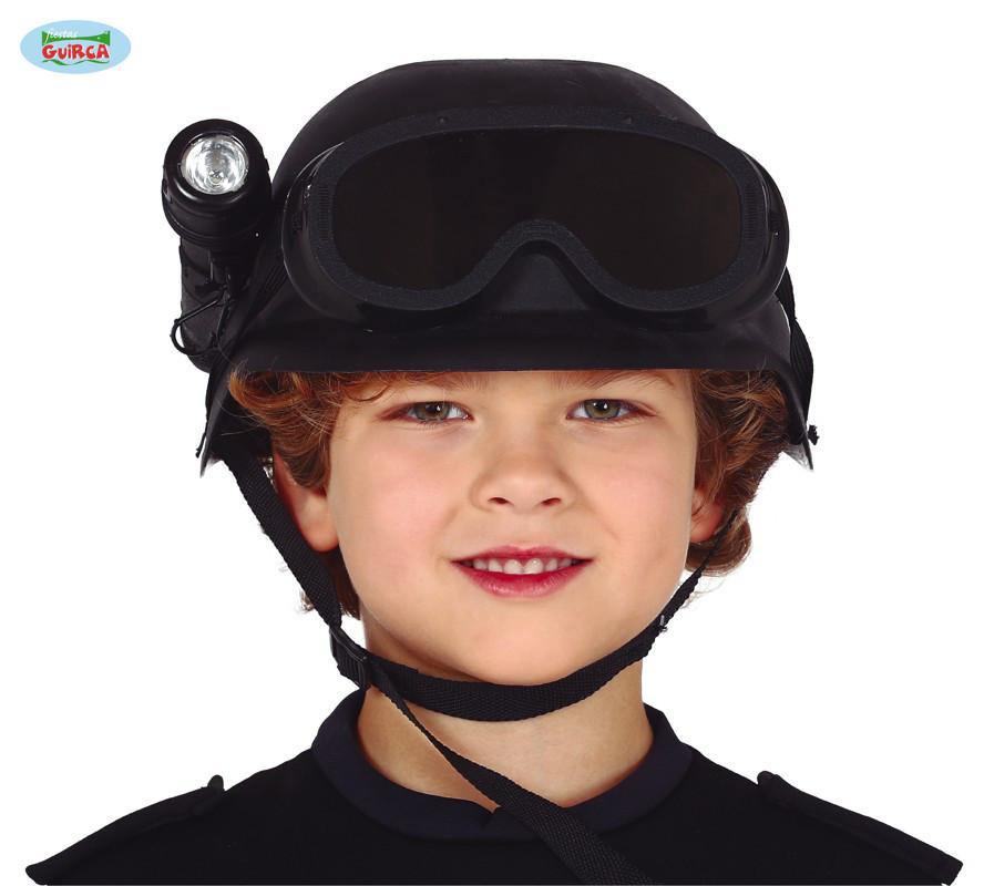 Kask dziecięcy antyterrorysty z latarką