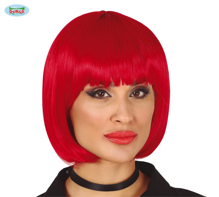 Peruka damska, czerwona