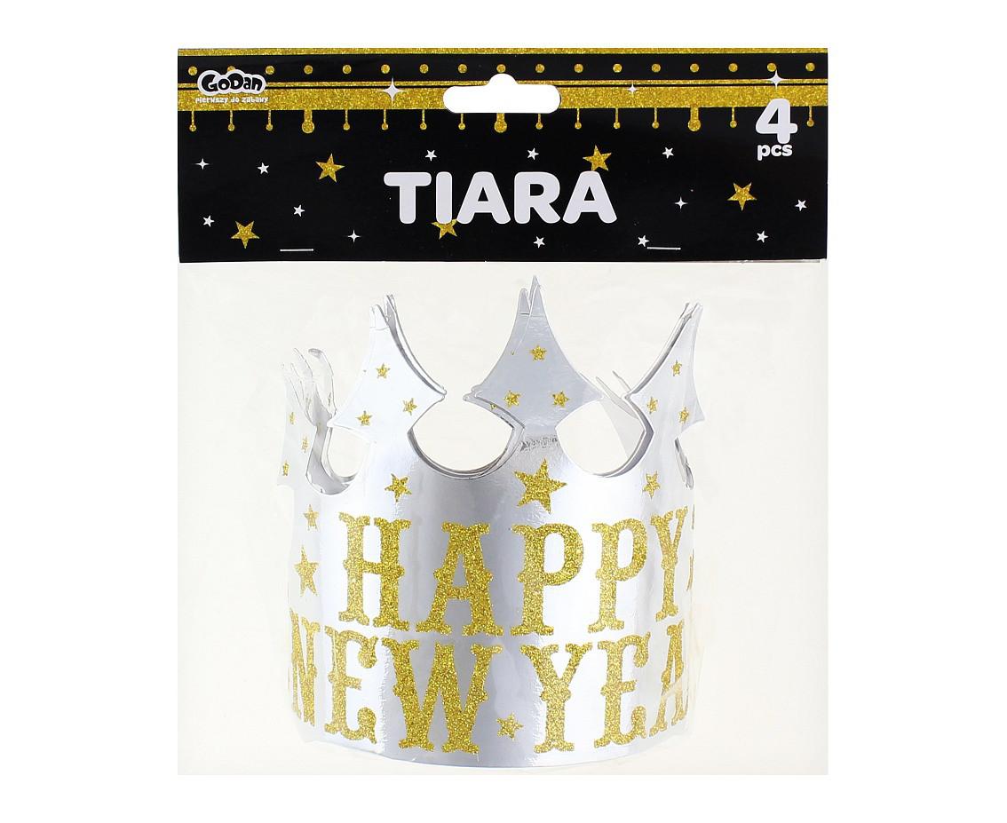 """Zestaw tiar papierowych """"Happy New Year"""""""