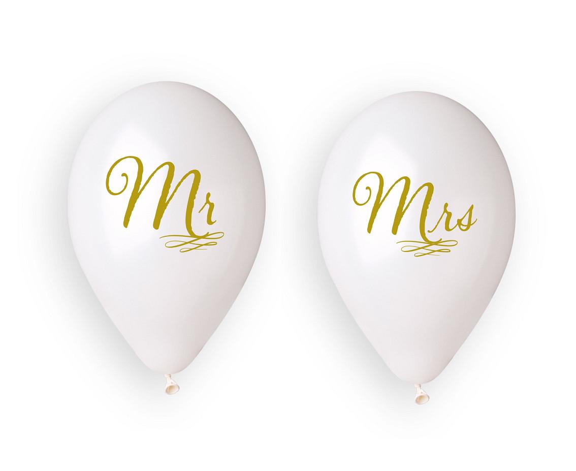 "Balony lateksowe ""Mr i Mrs"" / GM120/MMW"