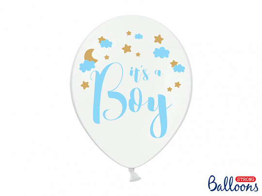 """Balony na Narodziny dziecka lateksowe """"It`s a Boy"""" / SB14P-232-008/6"""