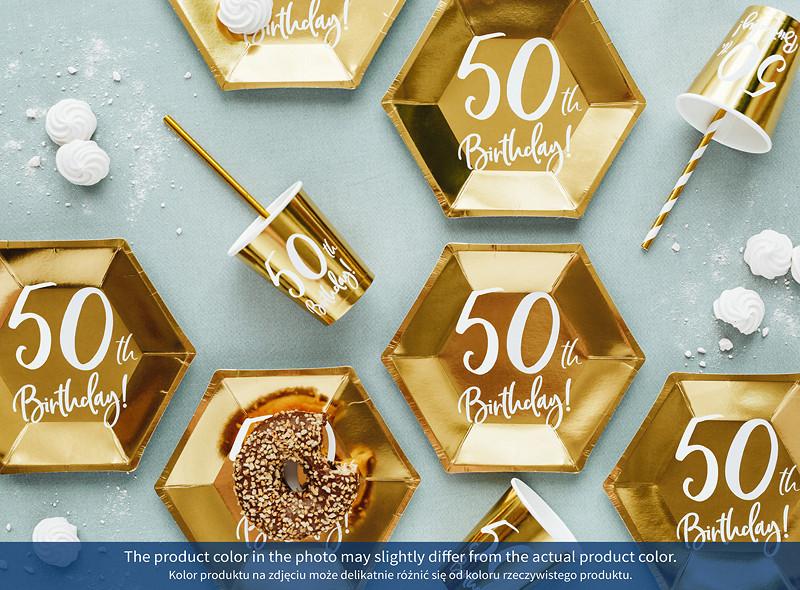 Talerzyki papierowe na 50 urodziny / TPP73-50-019M