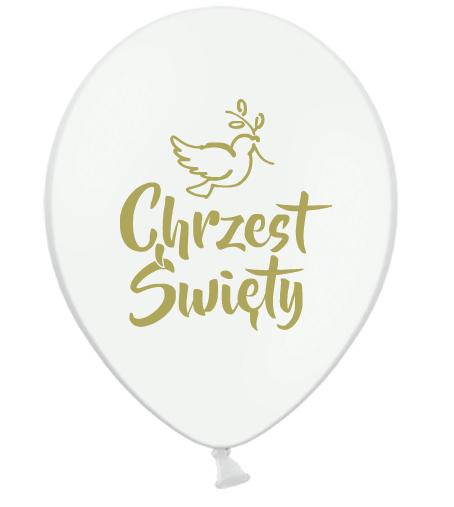 Balony lateksowe na Chrzest Święty / B105-CHG05-002