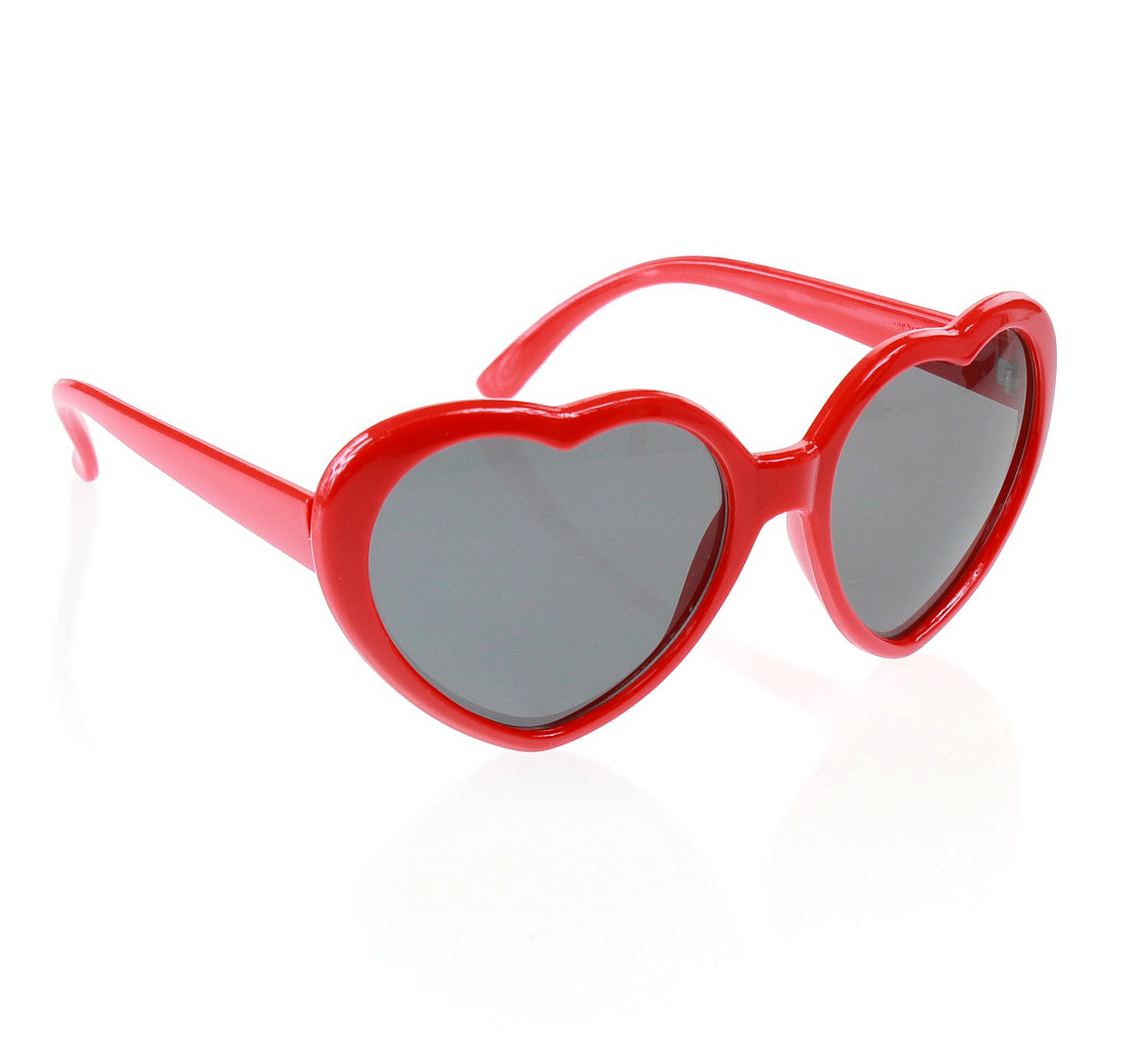 """Okulary """"Serca"""", czerwone"""