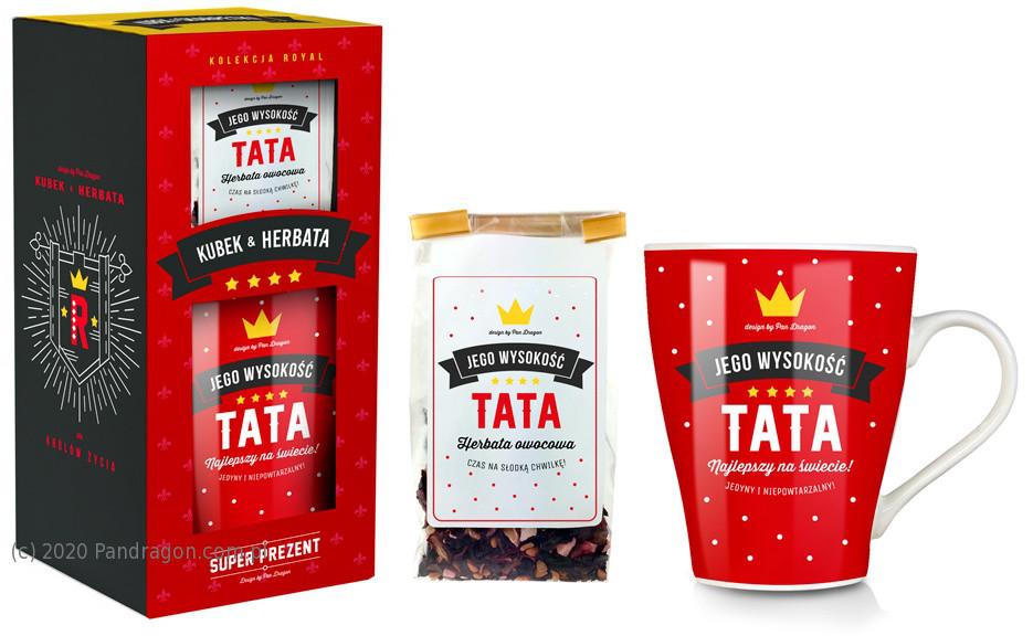 "Zestaw kubek z herbatką ""Tata"" / Royal"