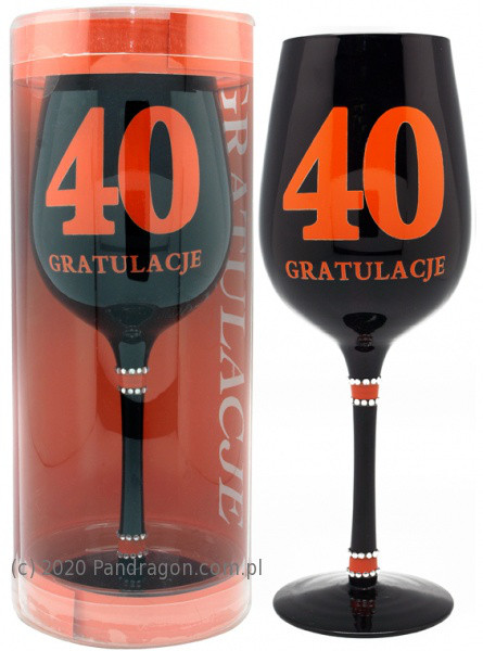 """Kieliszek """"40 - gratulacje"""" / Orange"""