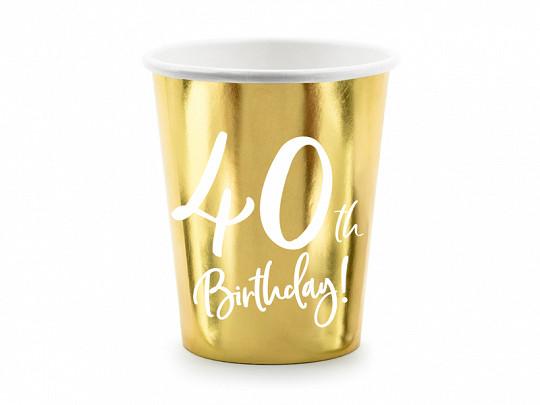 """Kubeczki papierowe na 40 urodziny """"40th Birthday"""""""