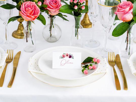 """Wiinietki na stół """"Kwiaty"""" / WS6"""