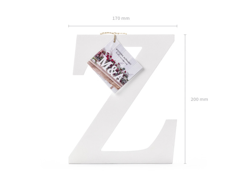 """Drewniana litera """"Z"""" / 17x20 cm"""