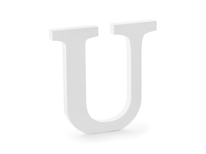 """Drewniana litera """"U"""" / 20,5x20 cm"""