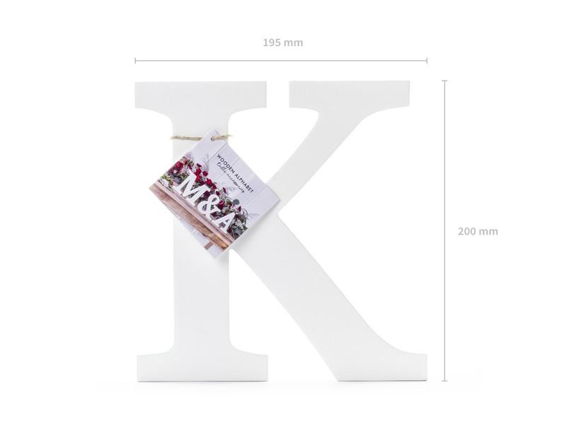 """Drewniana litera """"K"""" / 19,5x20 cm"""