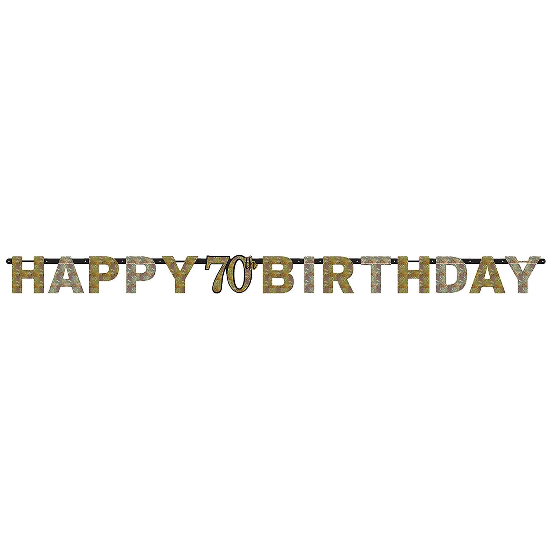 """Girlanda Sparkling Celebration """"70 urodziny / 213x16,2 cm"""