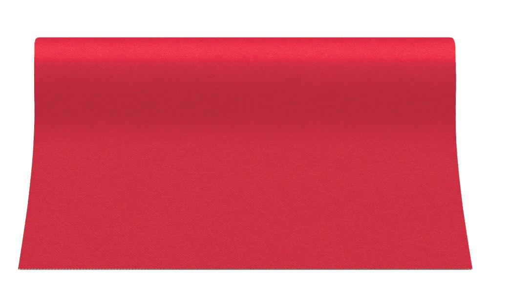"""Bieżnik flizelinowy gładki AIRLAID """"Basic"""", czerwony / 40cmx24m"""