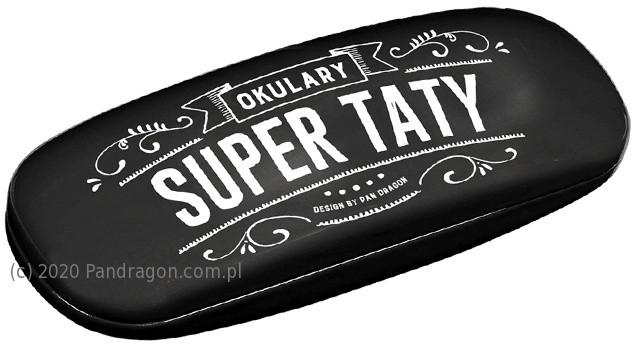 """Etui na okulary """"Okulary Super Taty"""" / Vintage"""