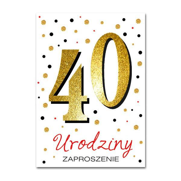 Zaproszenia na 40 urodziny / ZB6819 ZZ6819